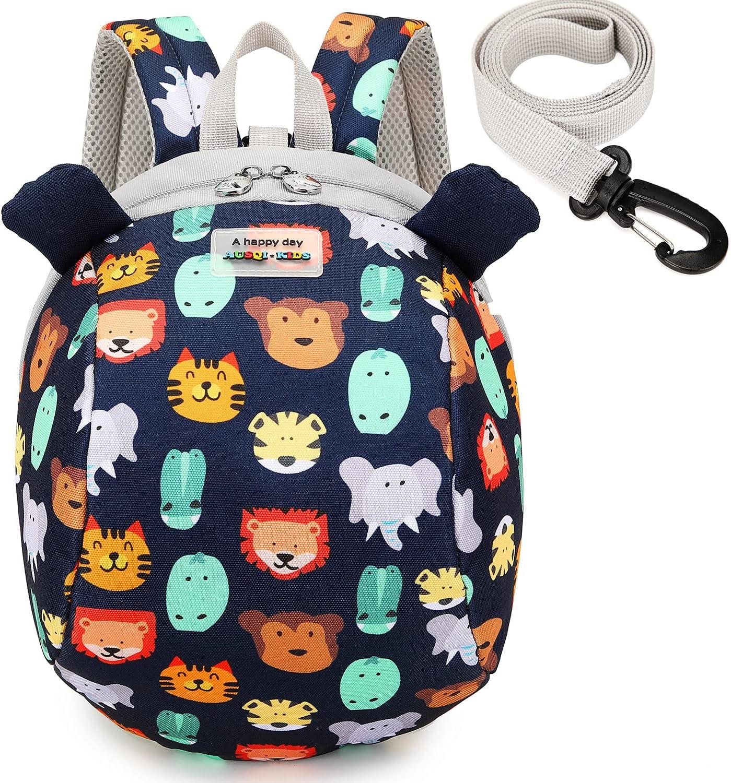 willikiva Dinosaur Toddler Mini Backpack Children Kids Baby Safety Harness Leash Waterproof Boys and Girls(Zoo)