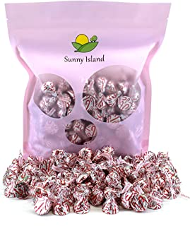 Sunny Island Bulk - Hershey's Candy Cane Kisses, Peppermint Red Stripes Creme Flavor, 2 Pounds Bag