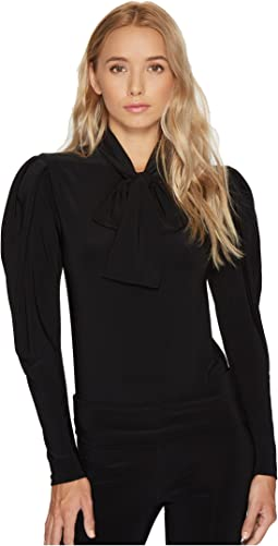 KAMALIKULTURE by Norma Kamali - Long Sleeve Bow Shirt
