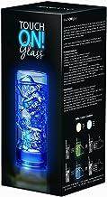 touchON!glass Creano Ausgefallenes Trinkglas / Longdrinkglas touchON!glass, Leuchtglas mit LED-Lichteffekt |300ml, blau