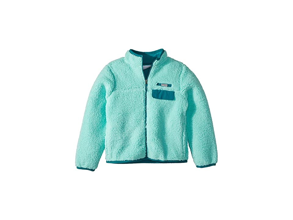 Columbia Kids Mountain Side Heavyweight Full Zip Fleece (Little Kids/Big Kids) (Pixie/Emerald) Girl