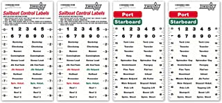 All In Gear Sailboat Rigging Labels Vinyl Waterproof Weather Resistant Sail Boat Stickers Control Port and Starboard Marin...