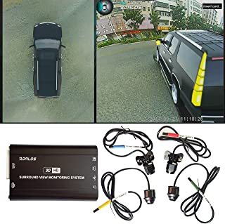 3D HD 360° Car Surround View Monitoring System , Bird View System, 4 Camera DVR HD 1080P Recorder / Parking Monitoring
