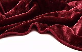 Vivalon Solid Color Ultra Silky Soft Heavy Duty Quality Korean Mink Reversible Blanket 9..