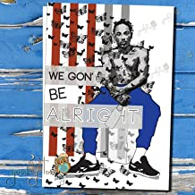 Kendrick Lamar Card, We Gon Be Alright, Hip Hop Card, Kendrick Lamar Art, Anniversary card, Illustrated card, To Pimp A Butterfly