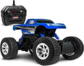 SHARPER IMAGE RC All Terrain Monster Rockslide Truck, Spring-Loaded Shocks and Knobby Tires For Off-Road Action, Wireless Full-Function 2.4GHz Remote Control for Racing Multiple Vehicles Long Distance