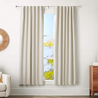 "Amazon Basics 5/8-Inch Curtain Rod with Knob Finials - 48"" to 88"", Nickel"