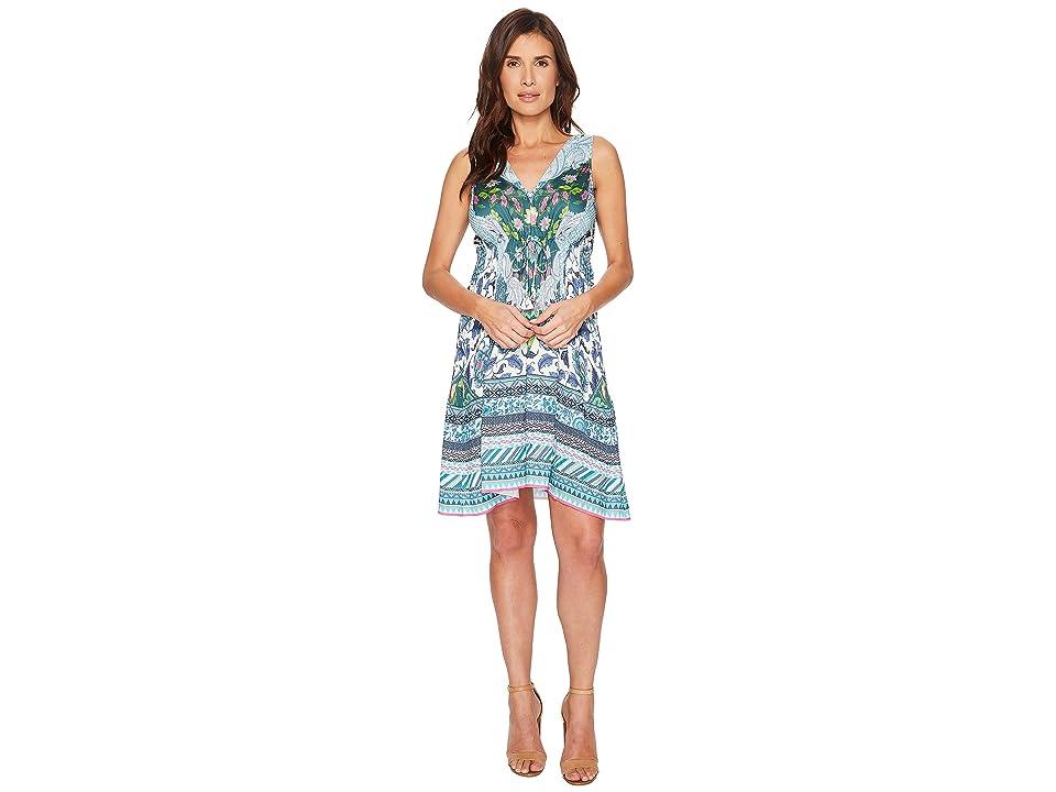 Hale Bob Simply Irresistible Stretch Satin Tank Dress (Blue) Women