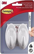 Command 17086Q Pack van 2 haken, middelgroot, parelwit
