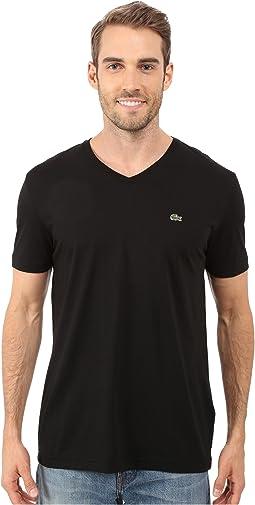 Lacoste - S/S Pima Jersey V-Neck T-Shirt