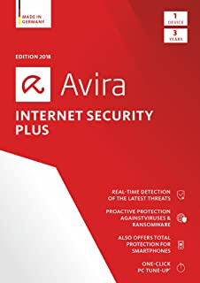 Avira Internet Security Plus 2018 | 1 Device | 3 Year | Download [Online Code]