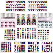 AIEX 770 stuks glitterstenen sierstenen strasssteentjes zelfklevende stickers acryl bont strasssteentjes kristal edelsteen...