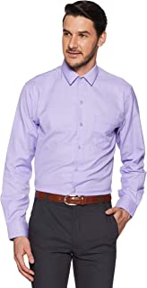 John Players Men's Solid Slim Fit Synthetic Formal Shirt