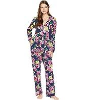 Classic Notch Collar Knit Pajama Set