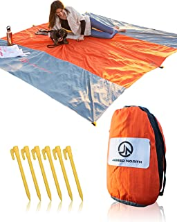 Jagged North Sand Proof Beach Blanket - Compact Packable Blanket - Soft, Lightweight, Easy to Use - Great for Backpacking, Camping, Festivals, Travel - Sand Free Beach Mat Fits in Small Tote Bags
