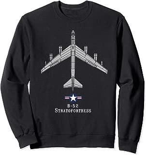 B-52 Stratofortress Tech Drawing Cold War Bomber Sweatshirt