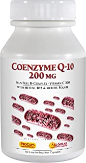 Andrew Lessman Coenzyme Q-10 200 mg 60 Capsules – Essential for Energy Production and Optimum Key Organ Function, Anti-Oxidant Support, Depleted by Aging, Plus B-Complex. Easy to Swallow Capsules