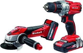 comprar comparacion Einhell Expert Kit con Taladro TE-CD 18/2 Li y Amoladora TE-AG 18 Li de 18V con 2 baterías de litio de 1,5Ah y 3,0 Ah y ca...