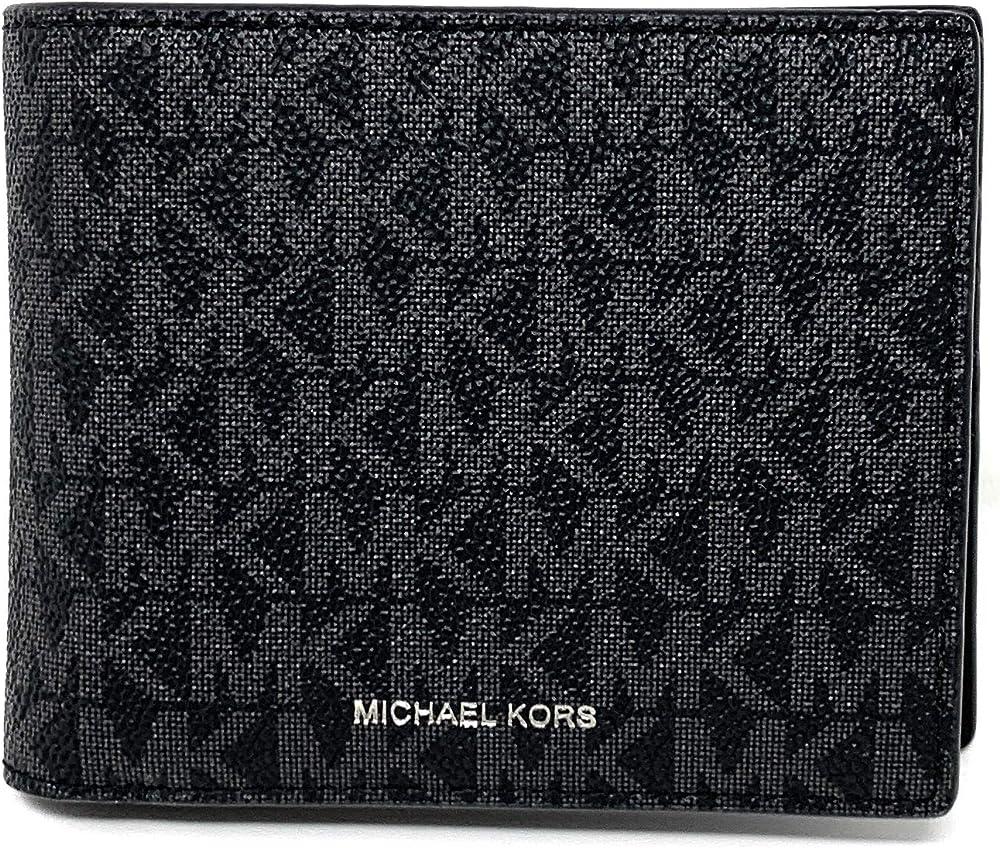 Michael kors men`s cooper,portafoglio per uomo,con sottile stampa monogramma tessuto esterno in tela rivestita 36U9LCRF6B