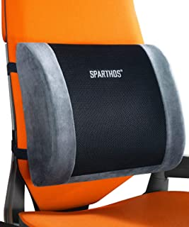 Sparthos Lumbar Support Pillow - Lower Back Pain Relief for Office Chairs, Car Seats, Desk, Driving Comfort, Recliner, Cou...