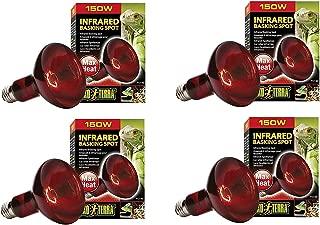 Exo Terra Heat-Glo Infrared Spot Lamp, 150-Watt/120-Volt (4 Pack)