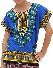 RaanPahMuang Unisex Bright Africa Colour Children Dashiki Cotton Shirt