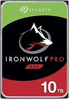 Seagate IronWolf Pro 10TB NAS Internal Hard Drive HDD –CMR 3.5 Inch SATA 6Gb/s 256MB Cache for RAID Network Attached Stora...