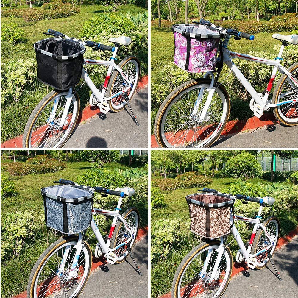 Cesta plegable para bicicleta mascotas gato y perro, cesta de la bicicleta, cesta de la compra de picnic, para mascotas, compras, viajes, camping y al aire libre, negro: Amazon.es: Deportes y aire
