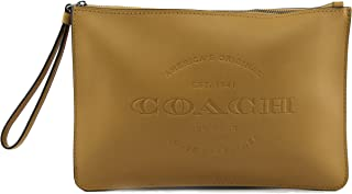 COACH HUDSON NATURAL LEATHER POUCH