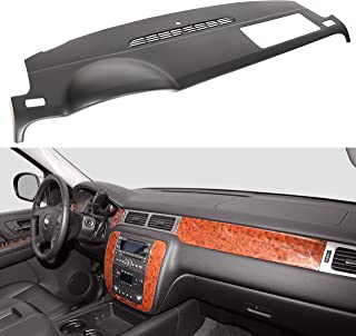 ECOTRIC Black Molded Dash Cover Cap for 2007-2014 Chevy Tahoe Avalanche Suburban GMC Yukon / 2007-2013 Silverado LTZ GMC Sierra SLT Denali Without Dash Speaker