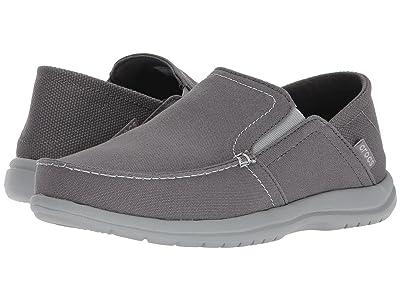 Crocs Santa Cruz Convertible Slip-On (Light Grey/Slate Grey) Men