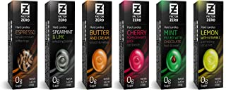 Sugar Free Hard Candy Factor Zero Assorted Flavors (6 Pack Assorted) Coffee, Cherry, Mint, Lemon, Spearmint, Butter Cream. Individually Packaged Gift Boxes Candies. FZ-HC-ASSO-6
