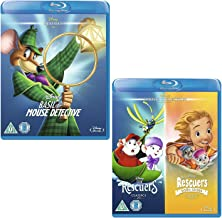 Basil The Great Mouse Detective - The Rescuers / The Rescuers Down Under - Walt Disney 3 Movie Bundling Blu-Ray