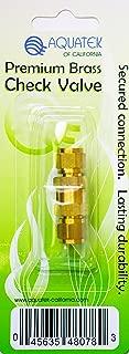 AQUATEK Premium Brass Check Valve & Extension Connector for Aquariums