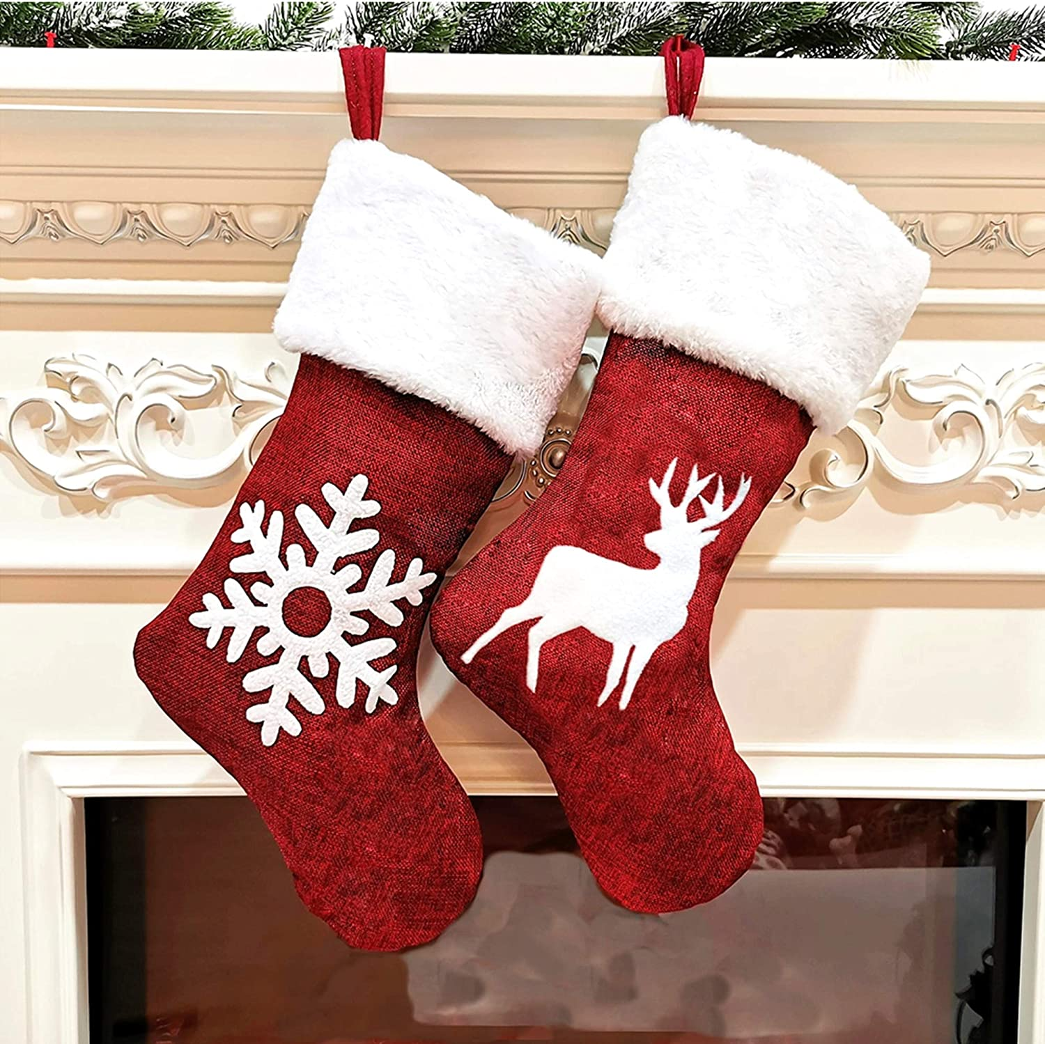 jxcmhg Max 62% OFF Spring new work one after another Christmas Stockings 2 Pack 18 for Candy Xm inch