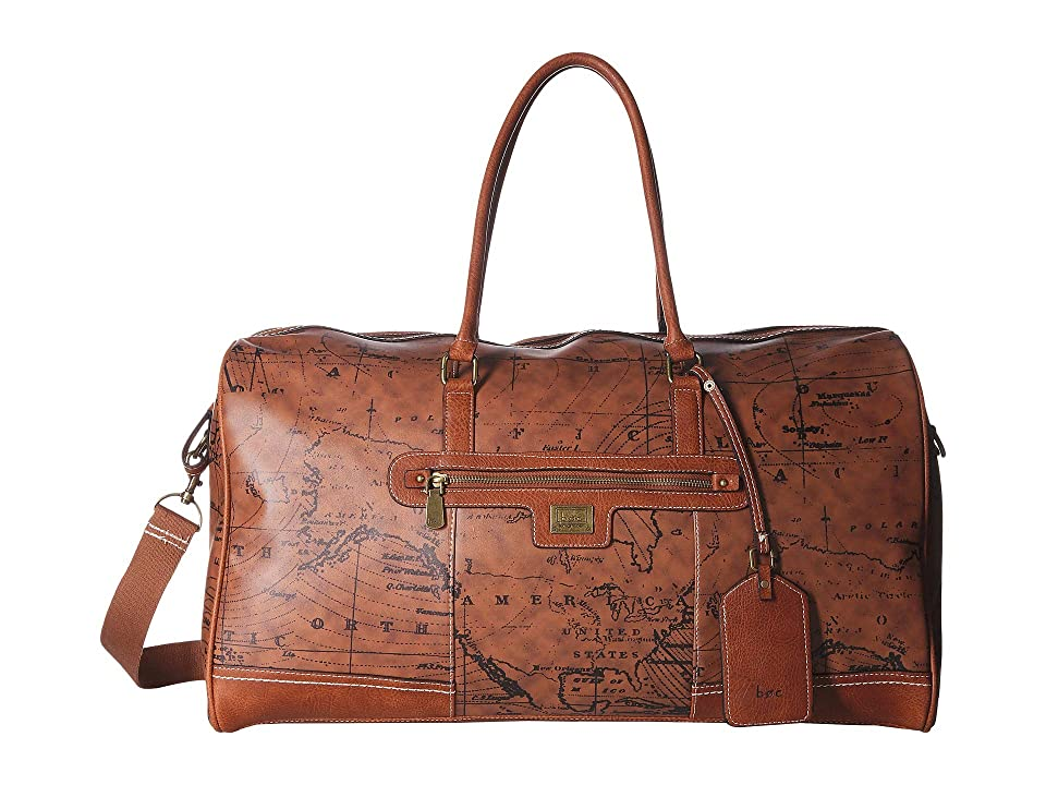 b.o.c. Voyage Overnight Satchel (Dark Saddle/Chocolate) Satchel Handbags, Brown