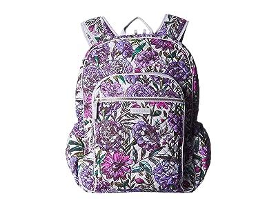 Vera Bradley Iconic Campus Backpack (Lavender Meadow) Backpack Bags
