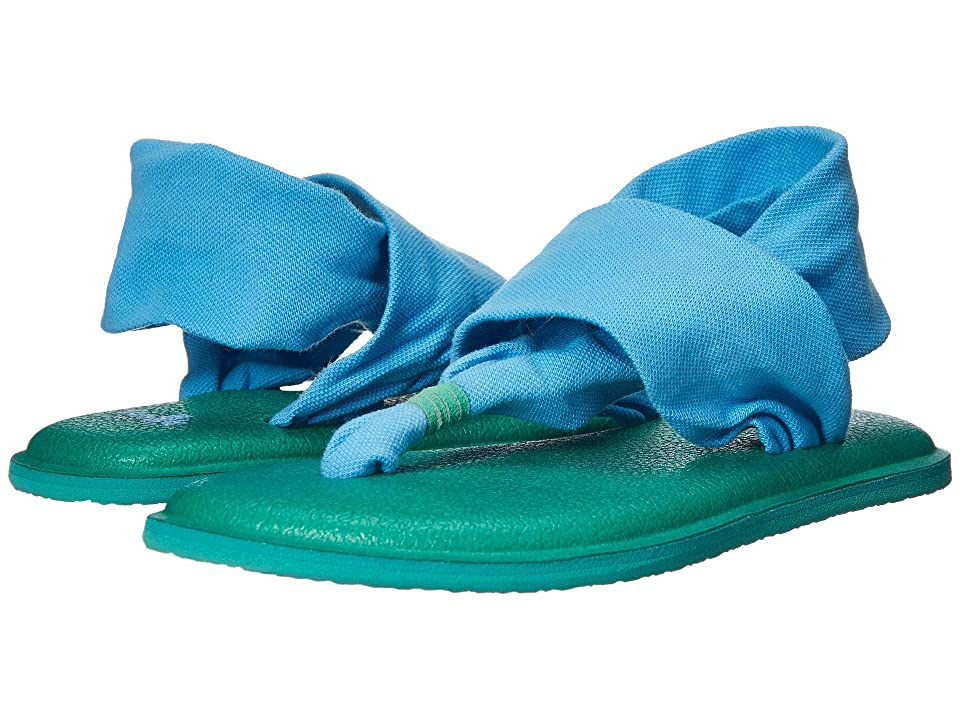 Sanuk Kids Lil Yoga Sling 2 (Toddler/Little Kid) (Alaska Blue) Girls Shoes