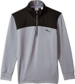 PUMA Golf Kids Color Block 1/4 Zip JR (Big Kids)