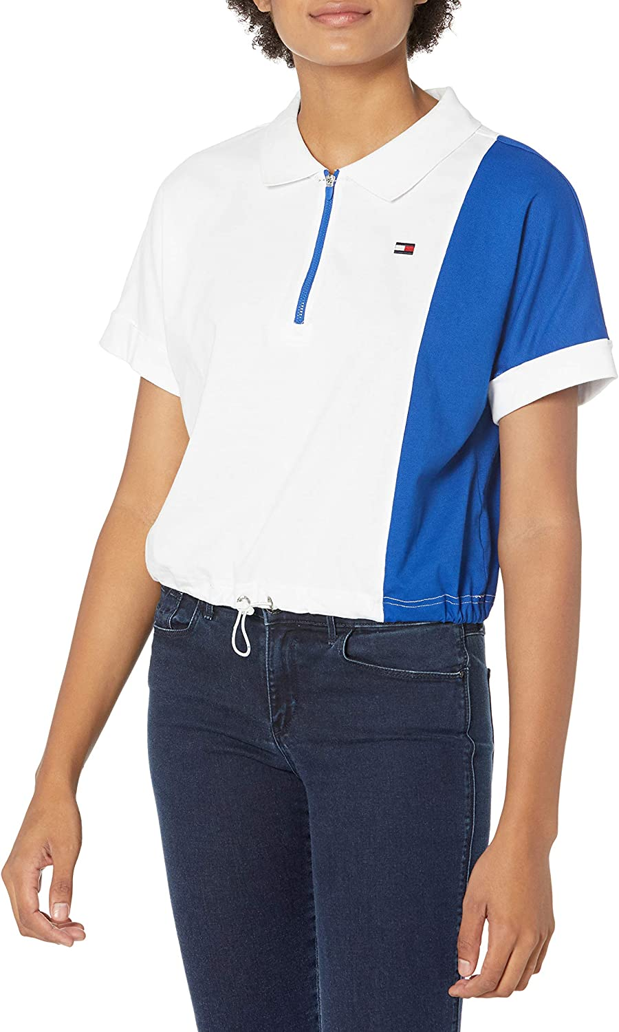 Tommy Hilfiger Women's Color Blocked Cropped Polo