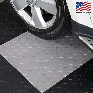 ModuTile Garage Flooring Interlocking Tiles, Diamond Top, Grey 27 Pack