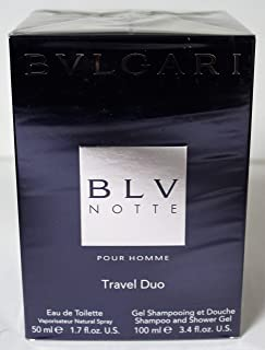 Bvlgari Blv Notte Pour Homme 2 Pc Gift Set Travel Duo for Men