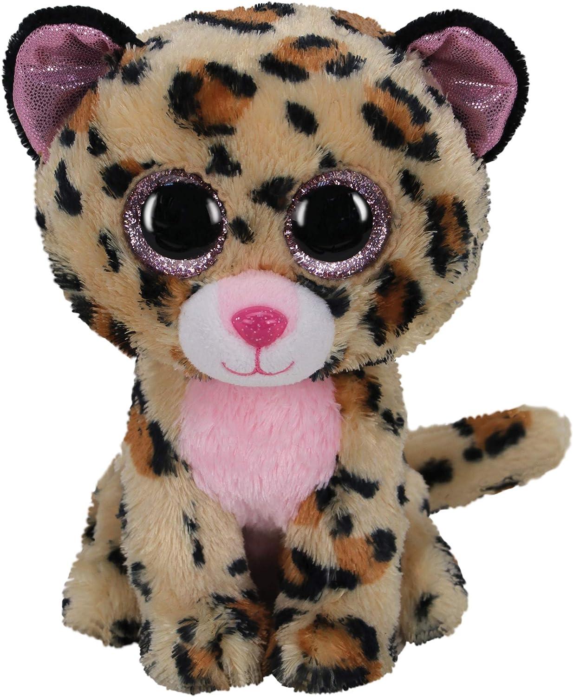 TY 2007518 Livvie Leopard Beanie Boo Stuffed Animal, Multicoloured