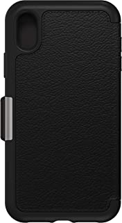 Otterbox Strada Folio Case, Bold Sophistication, Drop Proof Style for iPhone XR - Black, 77-59922