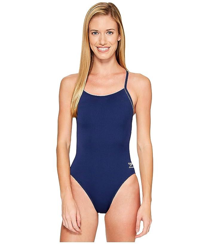 Speedo Solid Speedo(r) Endurance + Thin Strap (Natical Navy) Women