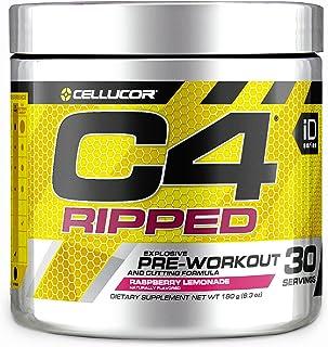 Cellucor C4 Ripped Pre Workout Powder Fat Burner Raspberry Lemonade, 180g, 30 Servings