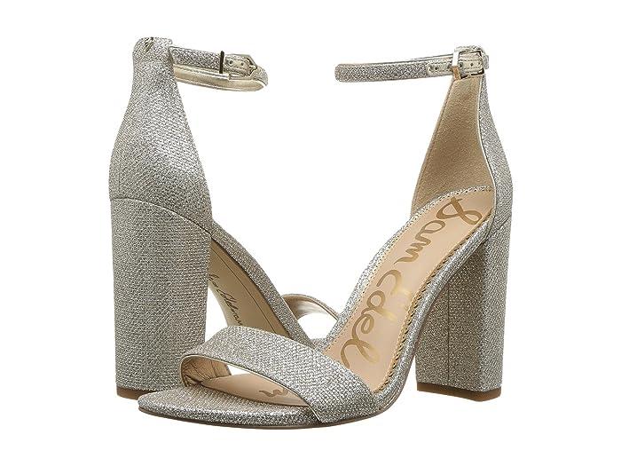Sam Edelman  Yaro Ankle Strap Sandal Heel (Jute Glam Mesh 1) Womens Dress Sandals
