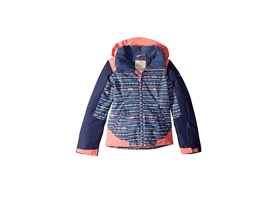 Roxy Kids Sassy Jacket (Big Kids) (Crown Blue/Indie Stripes) Girl