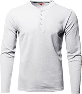 Men's Premium Quality Thermal Henley Long Sleeve T-Shirt