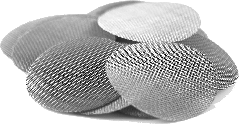 Up in Smoke Pipe Screens Filtros de tubo de acero inoxidable 25.4 mm (1